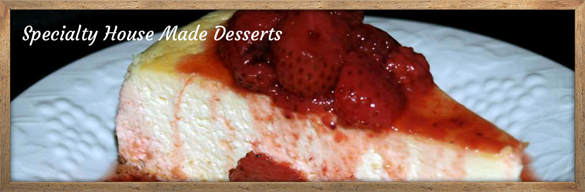 Homemade Strawberry Cheesecake - Speciality House Made Desserts
